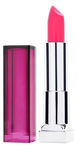 Pure Color Long Lasting Lippenstift (Maybelline New York Make-Up Lippenstift Color Sensational Lipstick Crazy Pink / Knalliges Rosa mit pflegender Wirkung, 1 x 5 g)