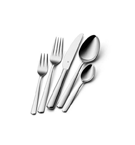 WMF Boston Besteckset, 30-teilig, für 6 Personen, Monobloc-Messer, Cromargan Edelstahl poliert, spülmaschinengeeignet