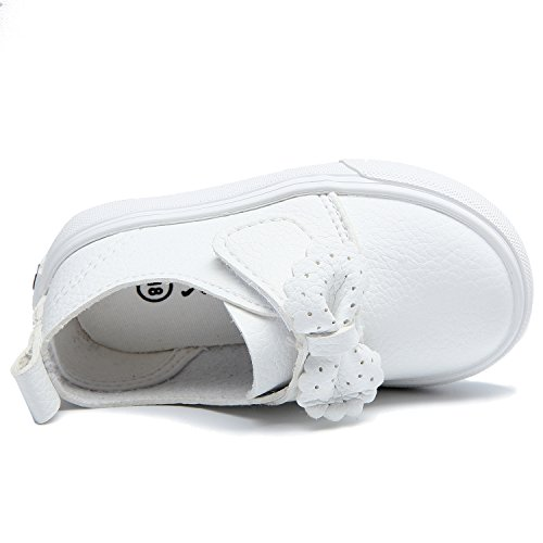 Alexis Leroy Bowknot Kinder Baby Slipper Mädchen Low-Top Sneakers Weiß