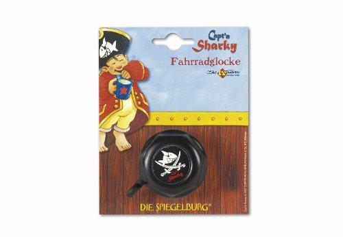 Bike Fashion Kinder Fahrradglocke Capt'n Sharky, schwarz, 5 x 5 x 5 cm, 865084