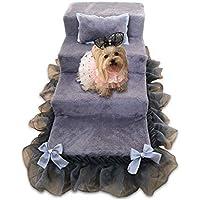 JXXDDQ Escalera de mascotas Cama de la Princesa Perritos pequeños para Perros Escalera de la Perrera