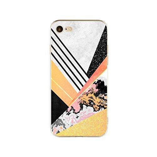 Coque iPhone 6 6s Housse étui-Case Transparent Liquid Crystal en TPU Silicone Clair,Protection Ultra Mince Premium,Coque Prime pour iPhone 6 6s-Marbre-style 21 12