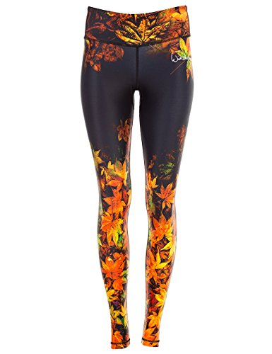 WINSHAPE Damen Functional Power Slim Style Leggings, Falling Leaves, S