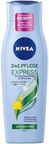 Nivea 2-in-1 Pflege Express Haar-Pflegeshampoo und Spülung in einem, 6er Pack (6 x 250 ml) (Frei Pflegeshampoo)