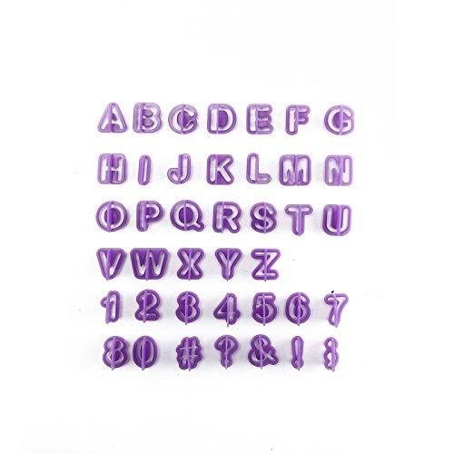 MultiWare 40 Teile Ausstechformen Buchstaben Und Zahlen Ausstecher Fondant Zum Professionellen Torten Dekorieren (40 Teile Ausstechformen)