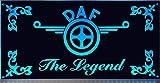 DAF LED-Leuchtschild 60x30cm ✓ Ideale Geschenkidee ✓ 18 LEDs ✓ Lasergraviert | Edles LED-Schild als Truck-Accessoire | Beleuchtetes DAF Logo-Schild für den 24Volt-Anschluss | Ideales LKW-Zubehör für Trucker in verschiedenen Farben
