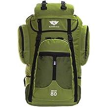 Slimbridge Knott 80 litros mochila XL senderismo, Caqui verde