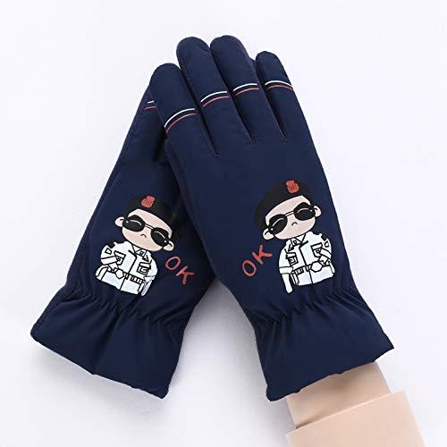 Q_stzp guanti guanti di i guanti gloves guanti da muffola guanti invernali caldi guanti bambini guanti invernali caldi guanti in cartone, blu 083f, taglia unica