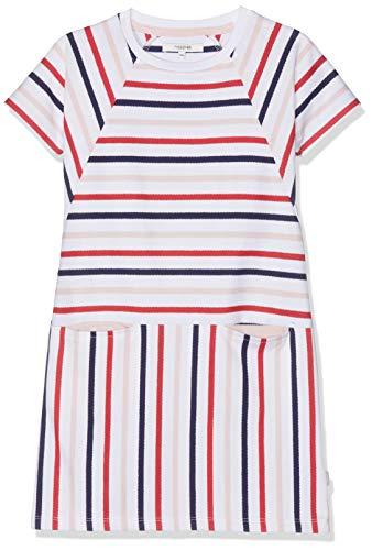 Noppies Mädchen G Dress Sweat ss Rome y/d STR Kleid, Mehrfarbig (Bright Red P020), 92