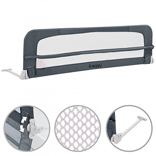 Preisvergleich Produktbild Bettgitter 150 cm Bettschutzgitter Kinderbettgitter Babybettgitter Gitter Kinderbett Fallschutz Bett Darkgray