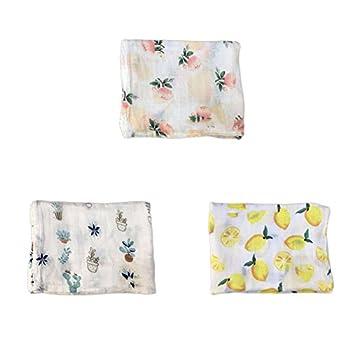Baby Bamboo Blanket Muslin Swaddle Blanket, Soft Organic Boys & Girls Bath Towel By Kingmia (H02) 1