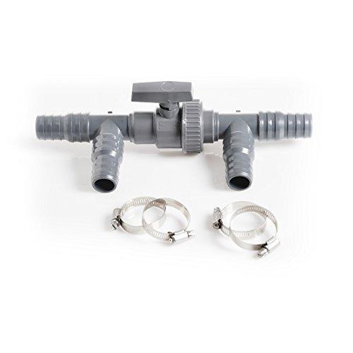 Piscine omio Bypass, Soupape 3 Voies et Té dans Un, idéal pour raccord à la Chauffage Solaire, idéale pour tuyaux de Piscine avec Ø 32 mm et 38 mm