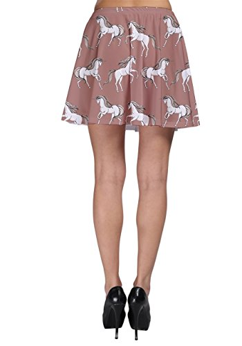 CowCow Unicorno da donna gonna Skater Mocha