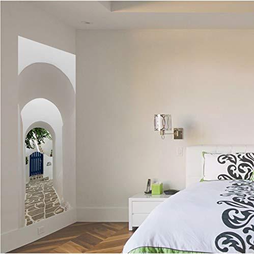 luanxiaonie Tür Aufkleber Europäischen Stil Bogen Wandbild Kunst Tapete Poster Tür Aufkleber PVC Selbstklebende Removable Home Tür Aufkleber 77X200 cm -