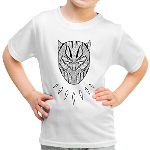 a Tribal Mask Kid's T-Shirt (Panther-kids)