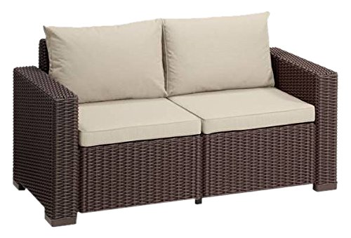 Allibert Lounge Sofa, Balkon, California Lounge Sofa Rattan