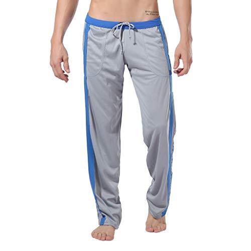 MOTOCO Herren Jogginghose Jogginghose Elastische Taille Atmungsaktive Sportswear Hose Taschen Geeignet für die Casual Striped Sweatpants der Turnhalle(XL,Grau)