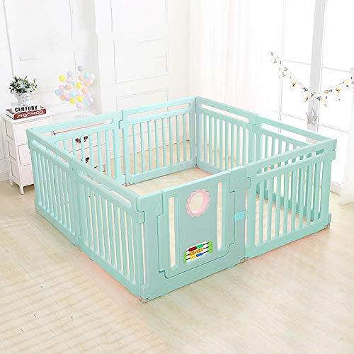 Bettgitter HUO Kinderspiel-Zaun des Umweltschutzes PET Quadrat-Babysicherheits-Kleinkind kriechender Zaun-2 Farbe-3 Größe (Farbe : B, größe : 158 * 158cm)