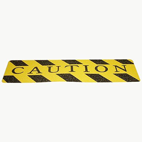 Wooster flex-tred Anti Rutsch Klampen: 6in. x 24in. (gelb/schwarz Vorsicht/Streifen)