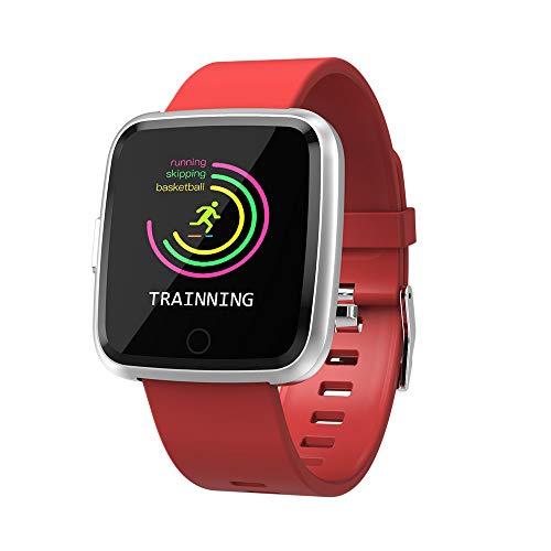 TechCode Smart Uhren Wasserdichter Fitness Tracker Pulsmesser Blutdruck Blutsauerstoffuhr Sport Bluetooth Smartwatch Anruf SMS Erinnern für iPhone Samsung Huawei Xiaomi HTC Sony LG und Smart Talk Bluetooth