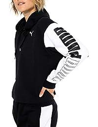 Puma 852021, Sweatshirt Donna, Cotton Black, L