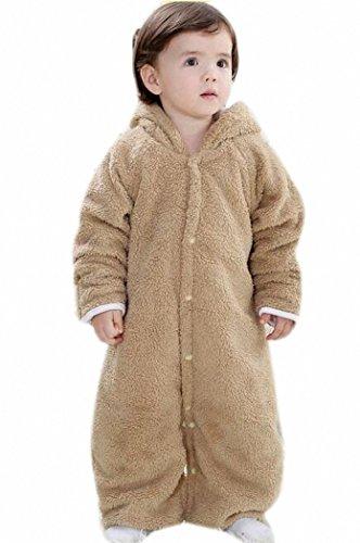 Santa Robe (Happy Dream Kinderschlafsack -Babyschlafsäcke dicker Flanell, Samt Korallen, Baby Robe. Größe: M: 80cm, L: 90CM, XL: 100cm. Multicolor (XL,)