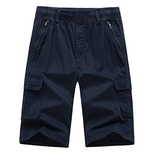Herren Elastische Cargo Shorts Badeshort Schnalle Kurzer Beachshort Schwimmhose Overall Stretch Hose Junge Erwachsener Tunnelzug Guysinsweatpants Sport Jogger Pants Jeans -