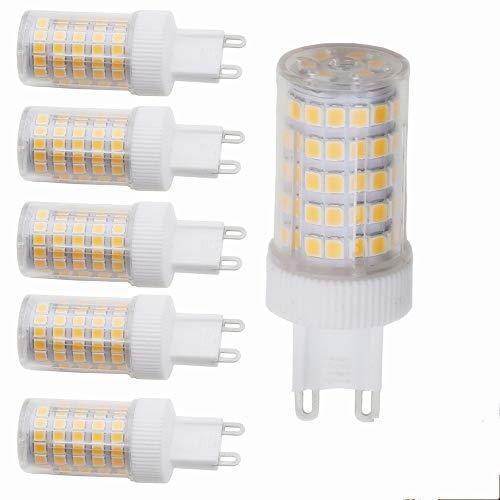 G9 LED Lampe Leuchtmittel 10W,Warmweiß,G9 LED Glühlampe Ersatz für 80W G9 Halogenlampen,800Lumen,3000K,220V AC,360 Grad,CRI> 82, 5er Pack