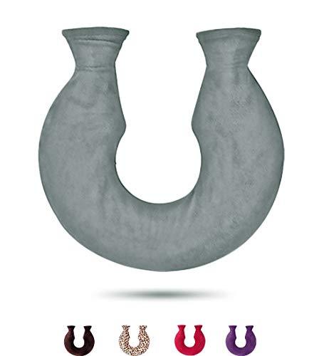 U Nackenwärmflasche mit Bezug Flanell Waschbar Wärmekissen Nacken Rücken Schulterschmerzen