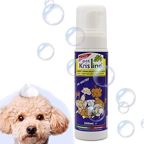 . Volumen: 200 ml. . Color: Blanco.  . Champú en espuma con aloe vera para perros y gatos. . Es un producto 100% natural. . Contiene un pH neutro. Este producto no es conveniente usarlo con animales mientras permanezcan mojados. Los ingredientes que ...