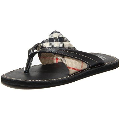 78958 ciabatta infradito BURBERRY CHECK scarpa bimbo/a shoes kids unisex Nero