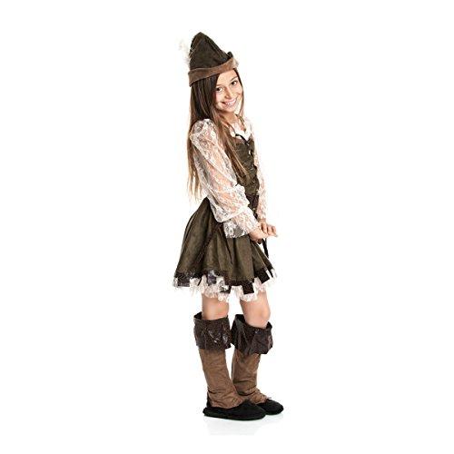 Kostümplanet® Robin Hood Mädchen Kinder Kostüm Lady