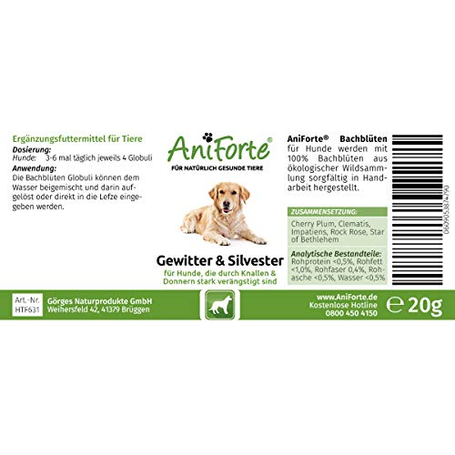 "AniForte® *Bio-Bachblüten ""Gewitter & Silvester"" für Hunde 20g Globuli - 3"