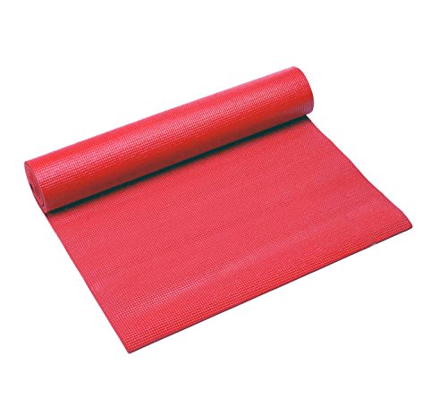 Em Home Esterilla de Fitness de Espuma y Antideslizante Tamaño 173x61cm Lavable en lavadora (Roja)