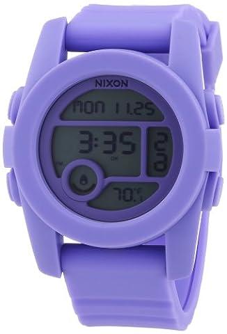 Nixon Men's Quartz Watch The Unit 40 Pastel Purple A4901366-00 with Plastic Strap