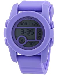Nixon Unisex-Armbanduhr The Unit 40 Pastel Purple Chronograph Quarz Plastik A4901366-00