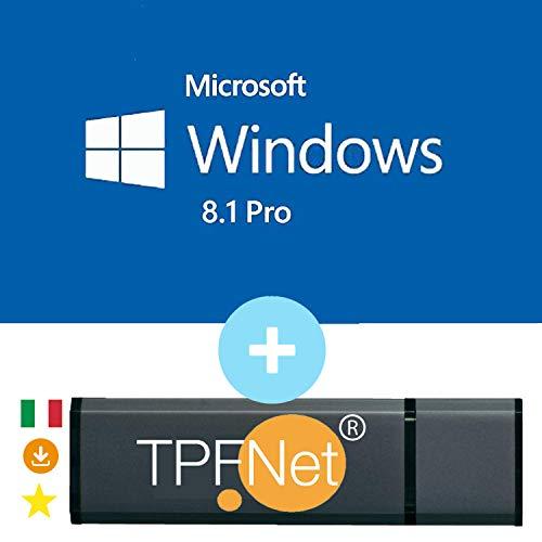 MS Windows 8.1 Pro 32 & 64 bit - Licenza Originale con Chiavetta USB Avviabile di TPFNet