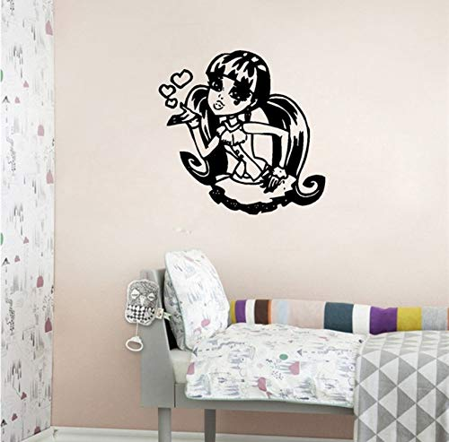 Pbbzl Monster High Vinyl Wandaufkleber Custom Name Art Decals Für Mädchen Room Decor 60X57 ()