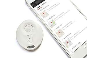 Yuzzit Porte-Clé Connecté : Tracker Clés, Localisateur de Smartphone, Géolocalisation GPS, Mémo Vocal, Reconnaissance Multimédia (Blanc)