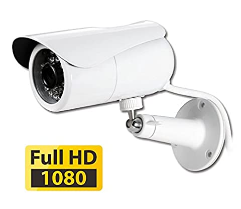 PHYLINK Bullet HD1080, Waterproof Outdoor Home Security Network IP Camera, True Day Night Vision, HD 1080P High Definition, Wireless WiFi, PoE, Motion Detection triggered Email Alert, DVR Micro SD Card Internet Access, Plug and Play App for Mobile, PC and Mac compatible,