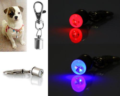 COM-FOUR blinkender LED Anhänger für Ihr Haustier Sicherheits Licht Lampe Halsband Katze Hund Gassi (2 Stück) - 2