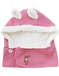 Tpulling Bonnet Bebe, 2-Pieces Unisexes Enfants Hiver Chaud écharpe Chapeau  Laine Tricot Bonnet 192a5feafe4