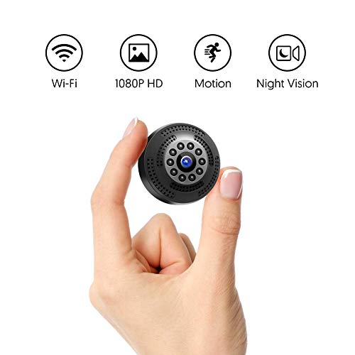 Victure 1080P FHD Mini Spy Camera Wireless Hidden Cam Rechargeable Portable  Camera with Motion Detection and Night Vision for Indoor Outdoor Home