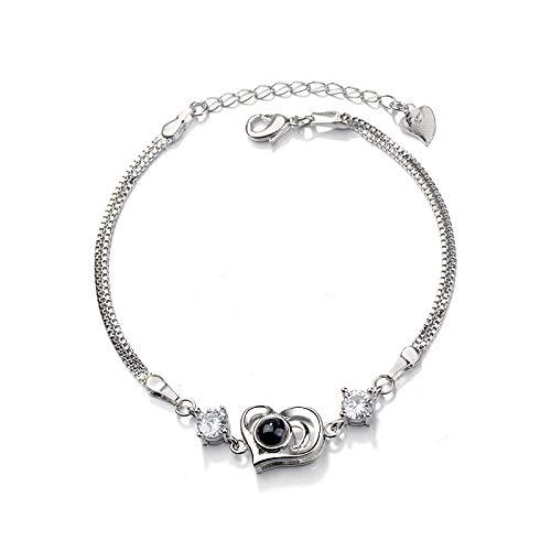 Imagen de love heart ornaments  pulsera de recuerdo para mujer, diseño con texto en inglés