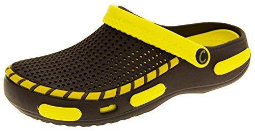 Footwear Studio Coolers Herren Strand Clog Sandalen Gelb EU 46