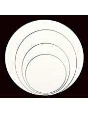 BIGMALL 2MM White Opaque Acrylic Sheet Circle Perspex Plexiglass [DIAMETER : 6 Inch, 8 Inch, 10 Inch, 12 inch ] (COMBO [6 + 8 + 10 + 12] INCHES)