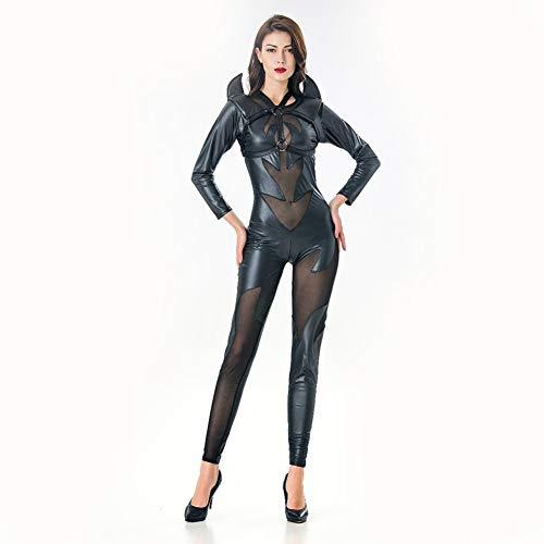 YCCDDY Nachtclub Sexy Siamesische Anzug PVC-Leder Elastische
