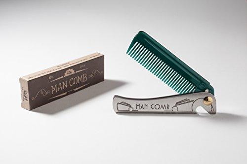 DAFT 'Special Edition' Man Comb, Faltender Metalltaschen-Kamm für Männer, bärtiger Mann-Kamm mit Griff, das entscheidende Werkzeug für Ihr Haar, Bart und...