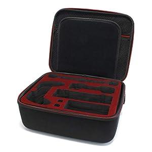 SKGAMES Nintendo Switch Tragetasche Hardcase für Konsole 21 Spiele Zubehör, Schwarz