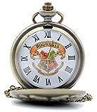 SHUAIGE Reloj de Bolsillo Vintage, Letra H, Reloj de Bolsillo de Cuarzo, 002